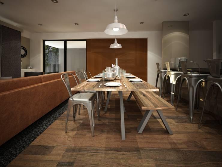 Diseño de comedor: Comedores de estilo  por Zono Interieur