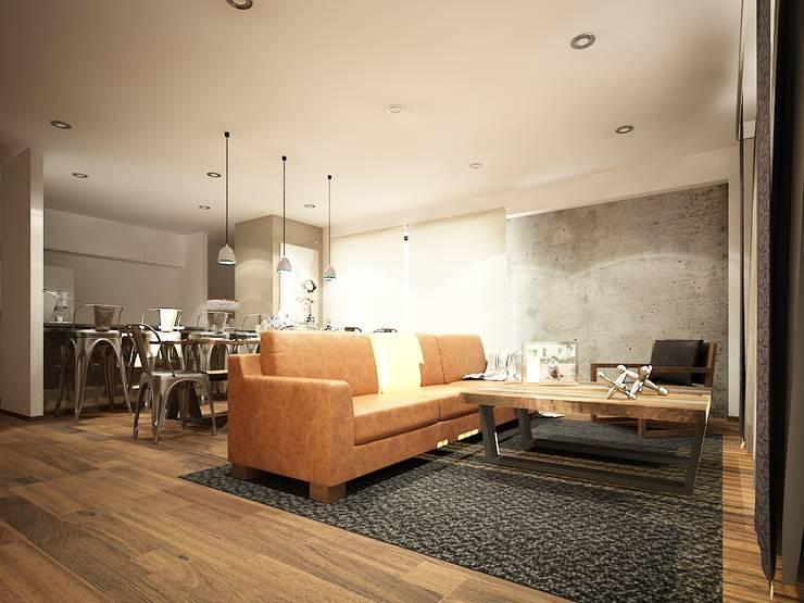 Diseño de salas: Salas de estilo  por Zono Interieur