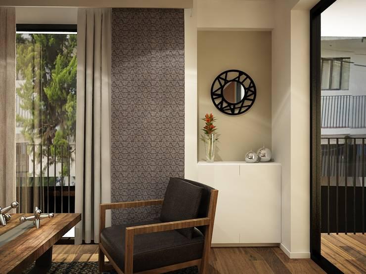 Pasillos y vestíbulos de estilo  por Zono Interieur