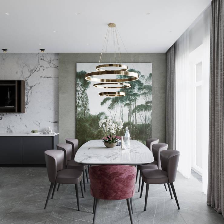 Dining room by Студия Антона Сухарева 'SUKHAREVDESIGN'