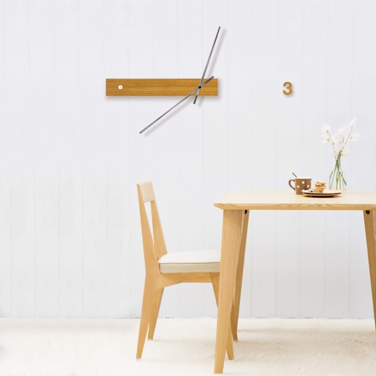 Tothora Trace Clock: modern  by Just For Clocks,Modern Solid Wood Multicolored