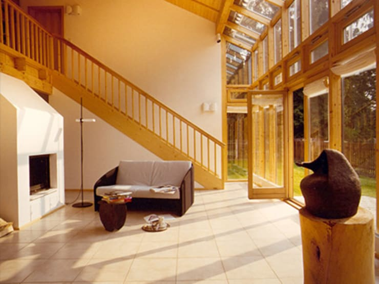 Modern Living Room by Architekturbüro Michael Bidner Modern