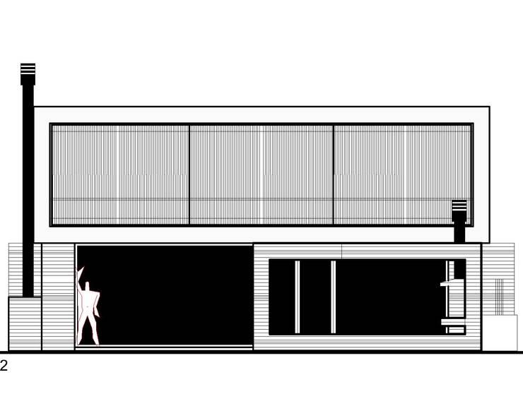 vivienda unifamiliar en ing. maschwitz: Casas de estilo  por 253 ARQUITECTURA