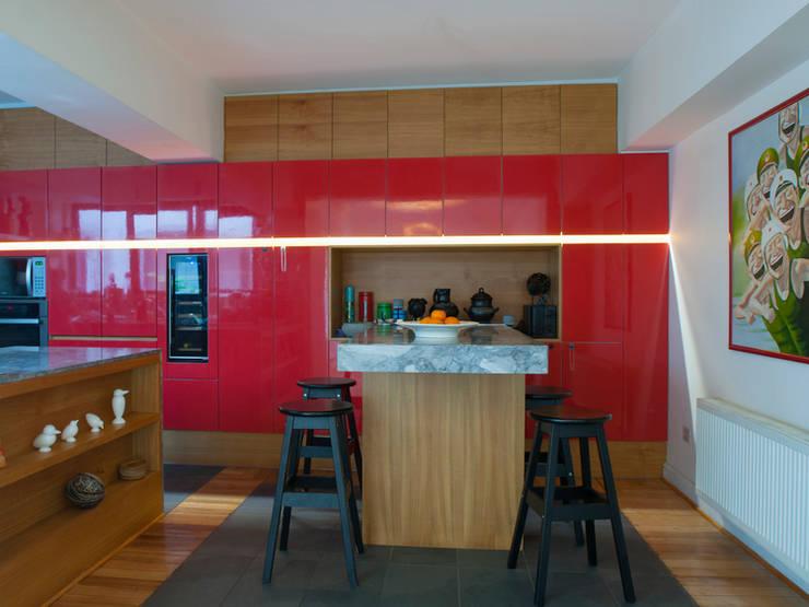 Departamento Forestal : Cocinas equipadas de estilo  por Dx Arquitectos