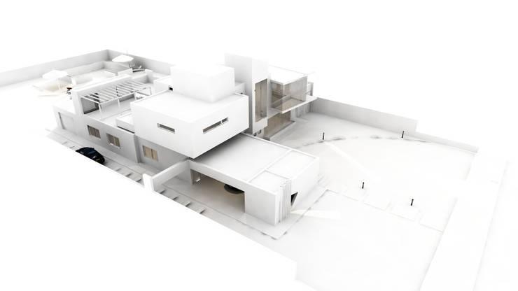Estudio de luces y sombras: Casas de estilo  por CASTELLINO ARQUITECTOS (+),
