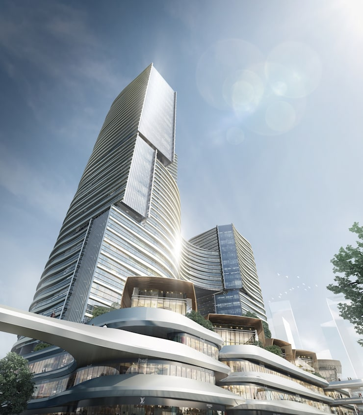 MCC Port Complex, Zhuhai, China:  Commercial Spaces by Architecture by Aedas, Modern