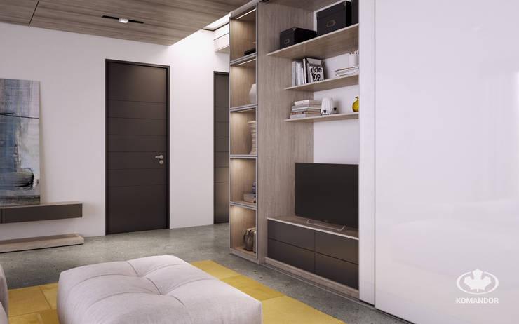Living room by Komandor - Wnętrza z charakterem, Modern Chipboard