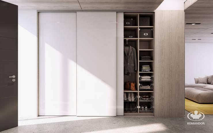 Corridor & hallway by Komandor - Wnętrza z charakterem, Modern Glass