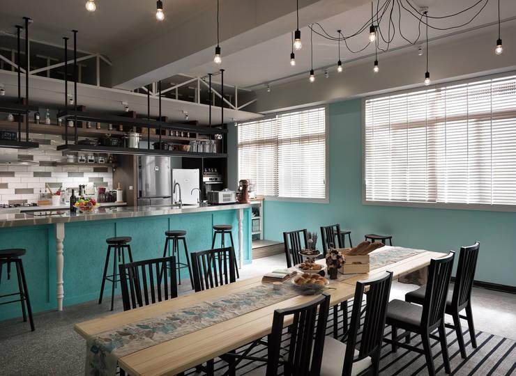 用餐區的規劃:  餐廳 by 一水一木設計工作室