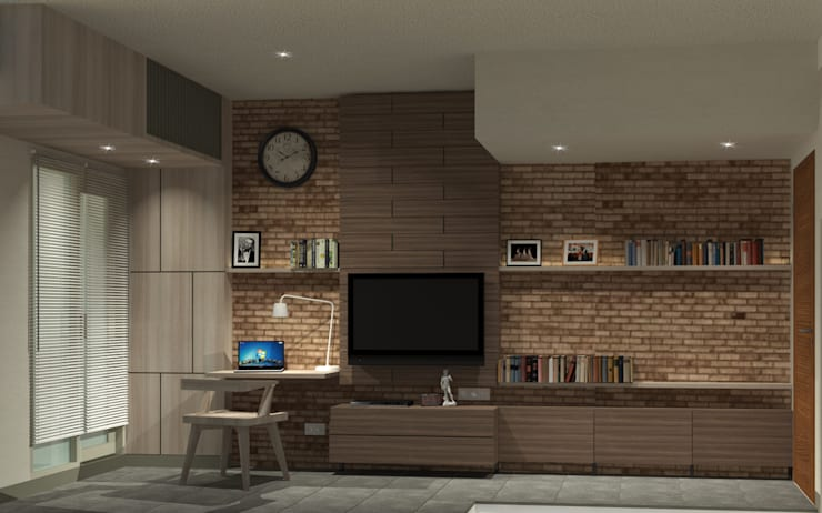 Show Unit - Type A (18 m2) - View 1:  Kamar Tidur by studio tektonik