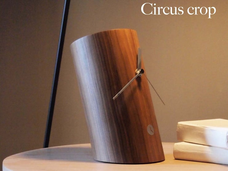 Tothora Circus Crop - Walnut:  Study/office by Just For Clocks