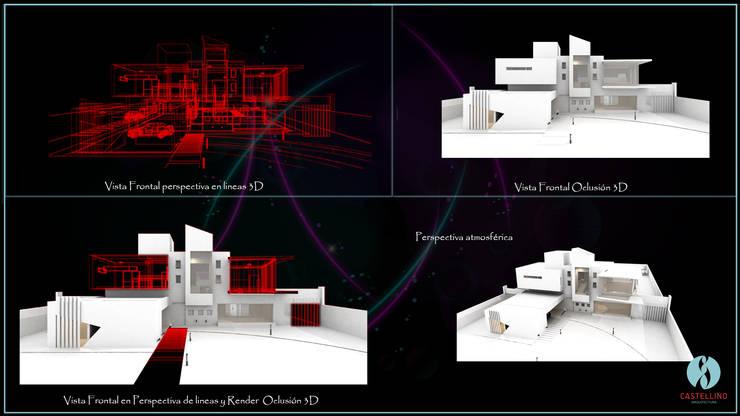 Perspectivas Atmosféricas - Oclusión - 3D: Casas de estilo  por CASTELLINO ARQUITECTOS (+),
