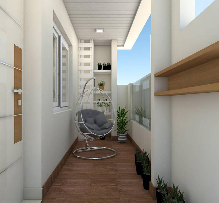 sai ram projects, kondapur:  Corridor & hallway by shree lalitha consultants,Tropical Plywood