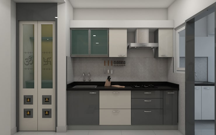 sai ram projects, kondapur:  Built-in kitchens by shree lalitha consultants,Minimalist Plywood