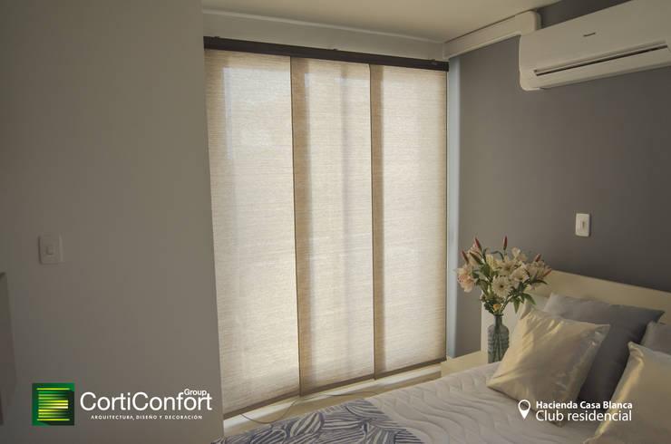 Hacienda Casa Blanca  – Yopal,Casanare : Dormitorios de estilo  por CortiConfort