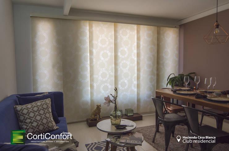 Hacienda Casa Blanca  – Yopal,Casanare : Comedor de estilo  por CortiConfort