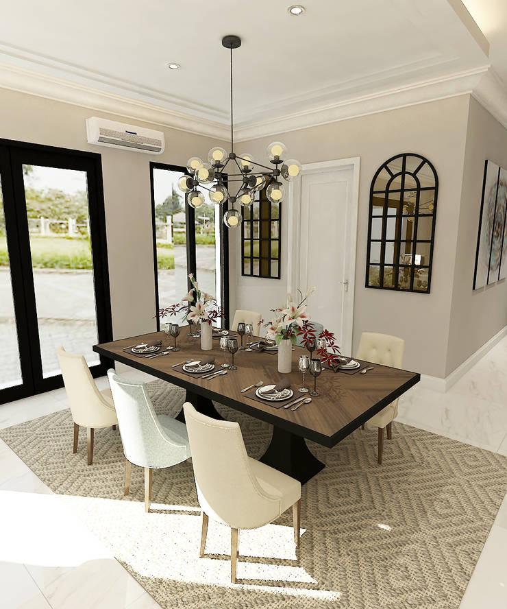 American modern residence:  Ruang Makan by Kottagaris interior design consultant