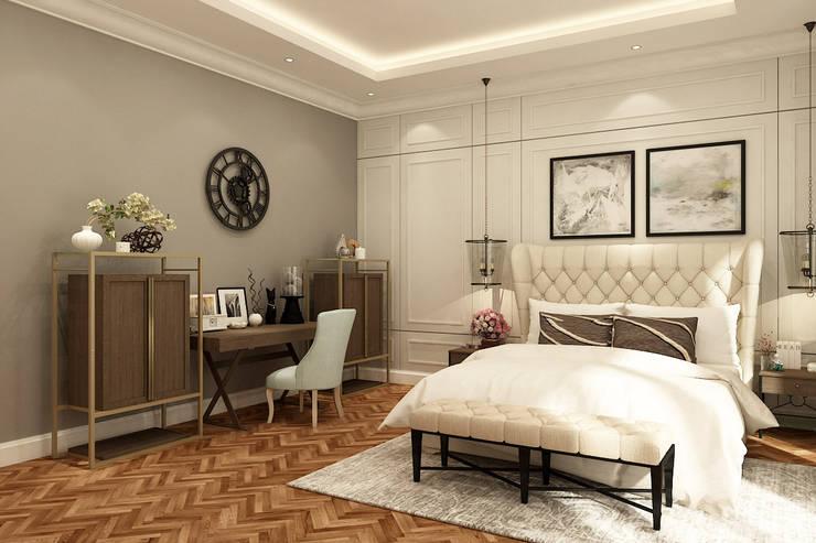 American modern residence:  Kamar Tidur by Kottagaris interior design consultant