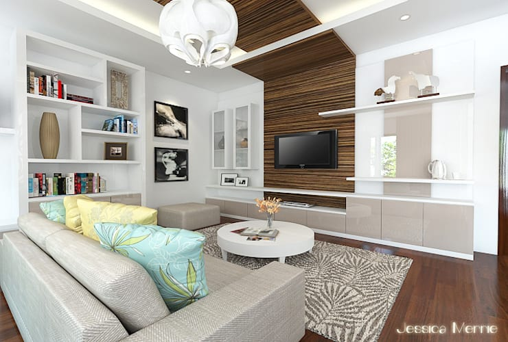 Master Bedroom:   by JM Interior Design
