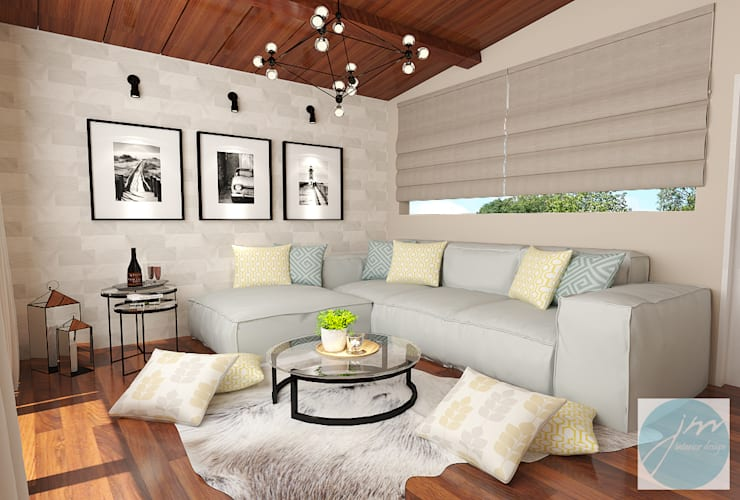 Ruang Santai villa puncak tidar malang:   by JM Interior Design