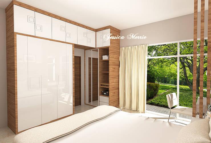Master Bedroom Mr. Eka Raya Langsep Barat Malang:  Kamar Tidur by JM Interior Design