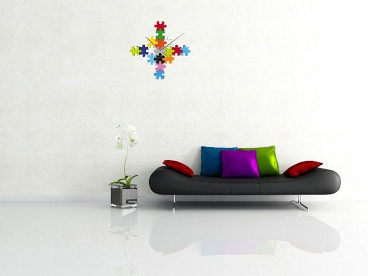Karlsson DIY Puzzle Clock Multi Colour: modern Living room by Just For Clocks