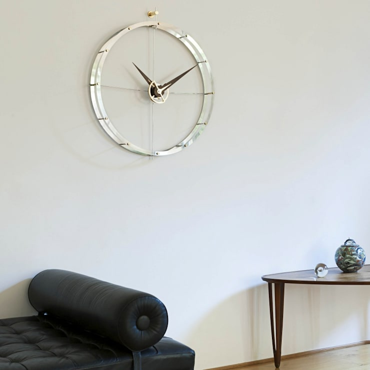 Nomon Doble O - Walnut & Steel:  Bedroom by Just For Clocks
