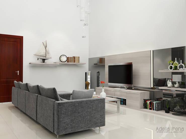 Ruang Keluarga:  Ruang Keluarga by AIRE INTERIOR