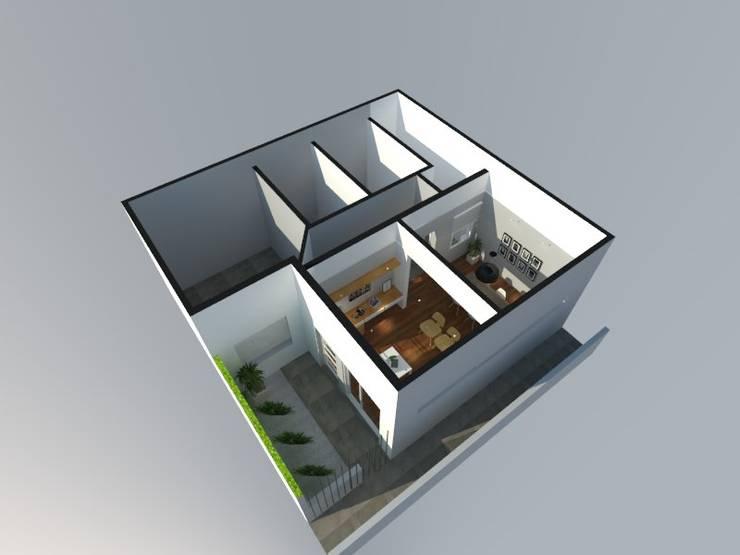 PH 8 - La Plata - Bs. As.: Casas unifamiliares de estilo  por SBG Estudio ,Moderno