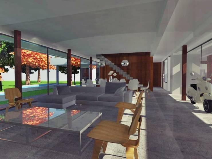 ★CASA RA – Saint Joseph – Longchamps – BS. AS.★: Casas unifamiliares de estilo  por SBG Estudio ,Moderno