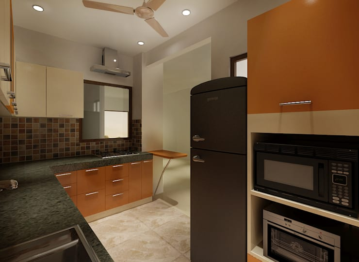 3 BEDROOM + STUDY:  Kitchen by Srijan Homes,Classic