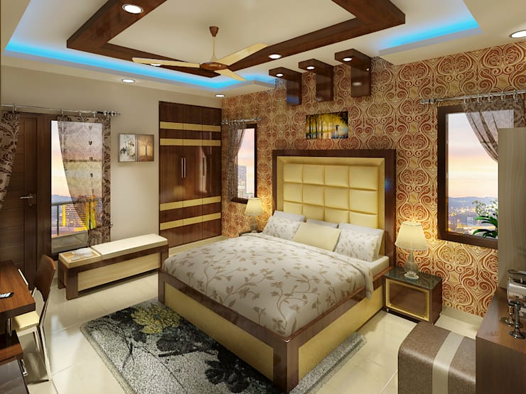 3 BEDROOM + STUDY:  Bedroom by Srijan Homes,Classic