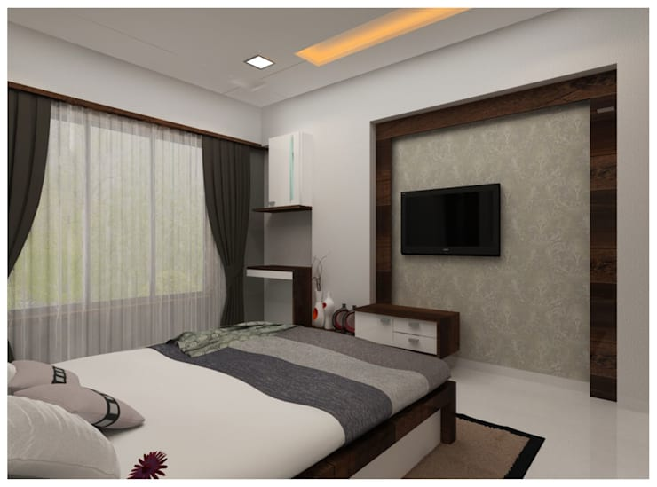 Our Work:  Bedroom by Shrishti Associates