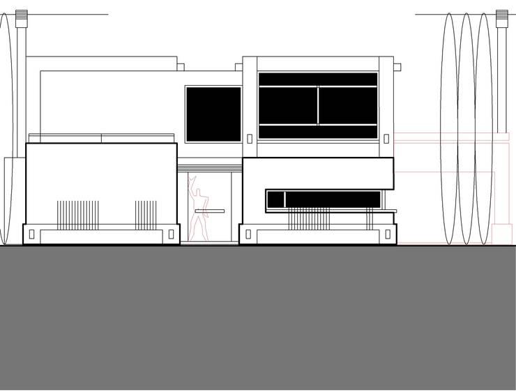 vivienda unifamiliar en pilar: Casas de estilo  por 253 ARQUITECTURA,