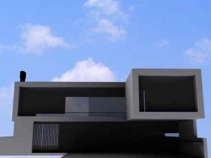 anteproyecto vivienda unifamiliar en tigre: Casas unifamiliares de estilo  por 253 ARQUITECTURA,Minimalista