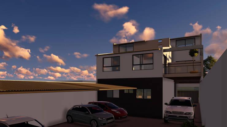 Proyecto Vivienda Multifamiliar: Casas multifamiliares de estilo  por Lacerra Arquitectura,