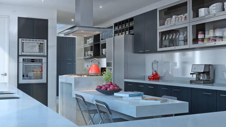 COCINA COLONIA-VITACURA: Cocinas equipadas de estilo  por AOG SPA