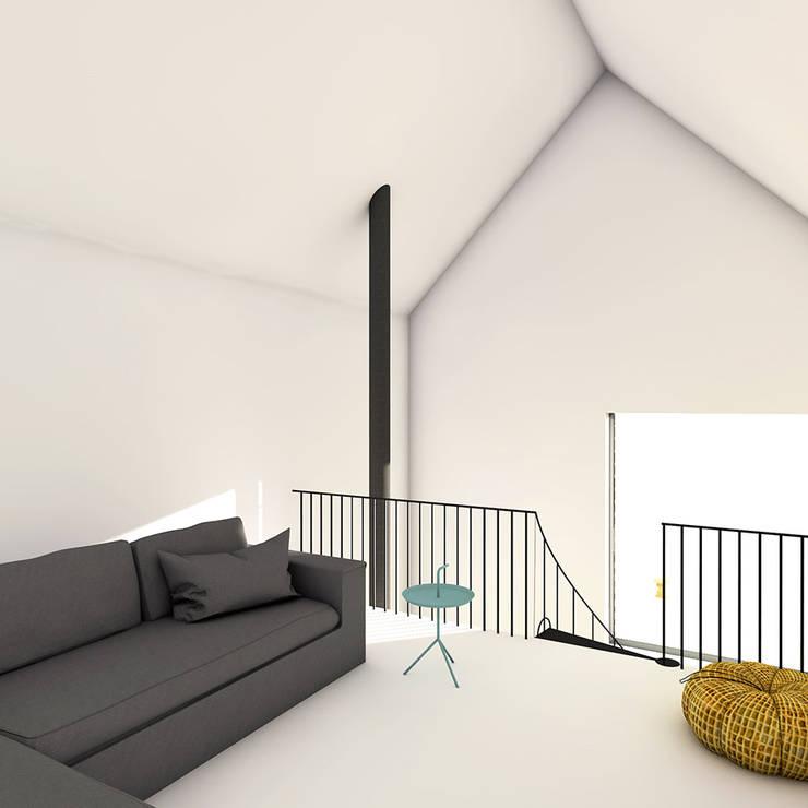 Relaxkamer:  Woonkamer door De Nieuwe Context