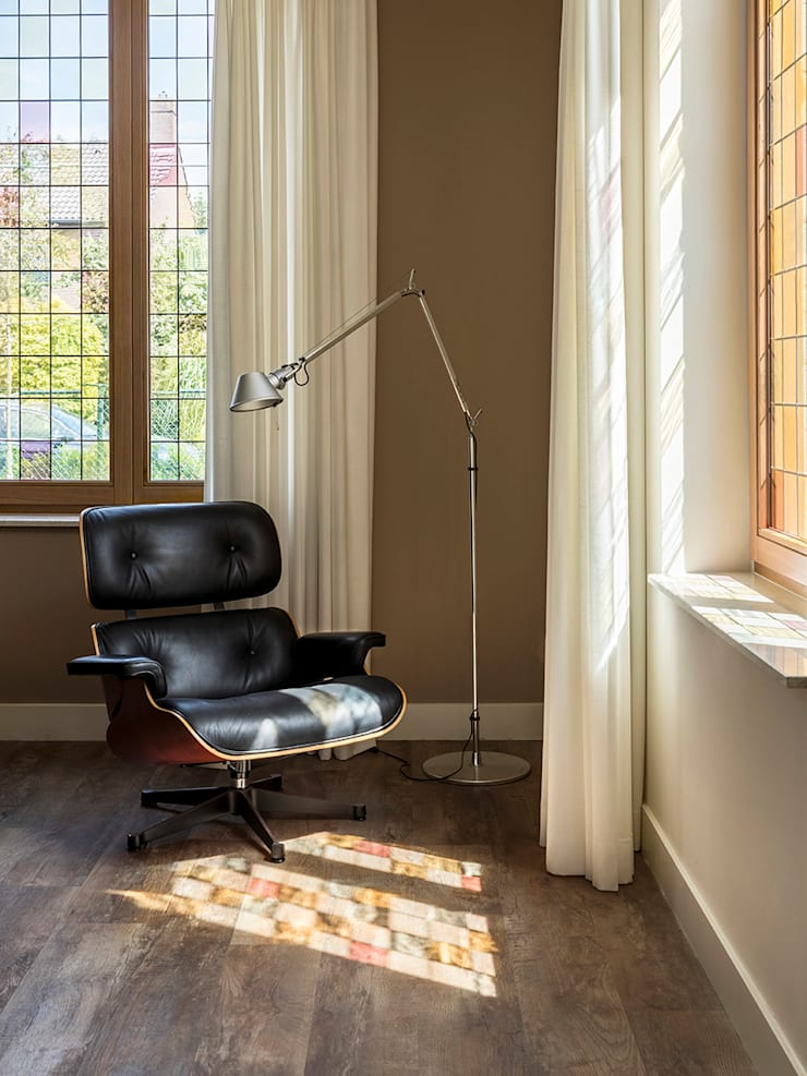glas in lood vensters:  Woonkamer door De Nieuwe Context, Eclectisch Hout Hout