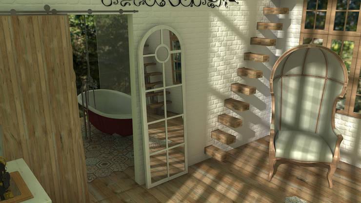 Mountain house: Baños de estilo  de Blophome
