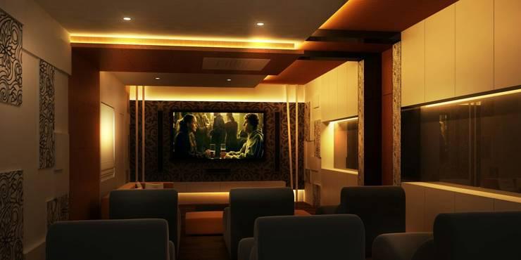 Interior—Exclusive:  Media room by M/s GENESIS