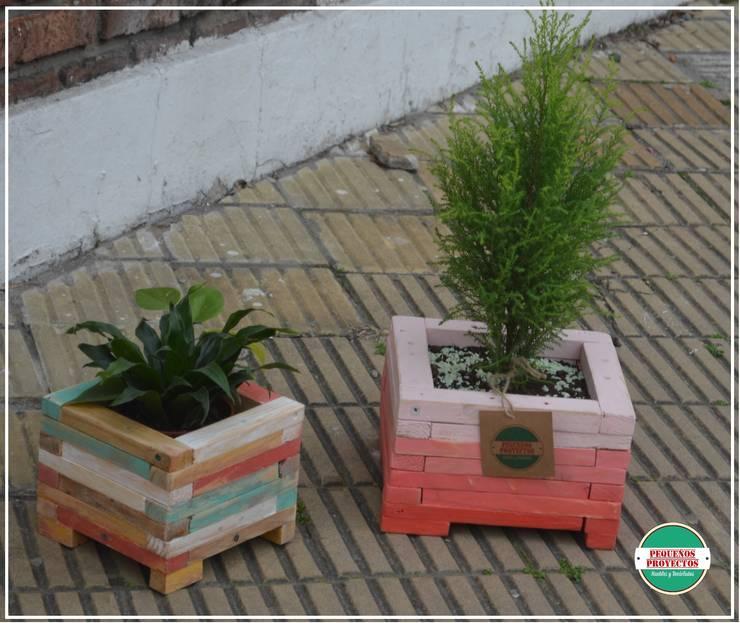 MACETA : Jardines de estilo  por Pequeños Proyectos,
