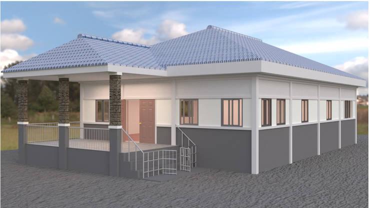 ออกแบบบ้าน style  Country:  บ้านระเบียง by mayartstyle