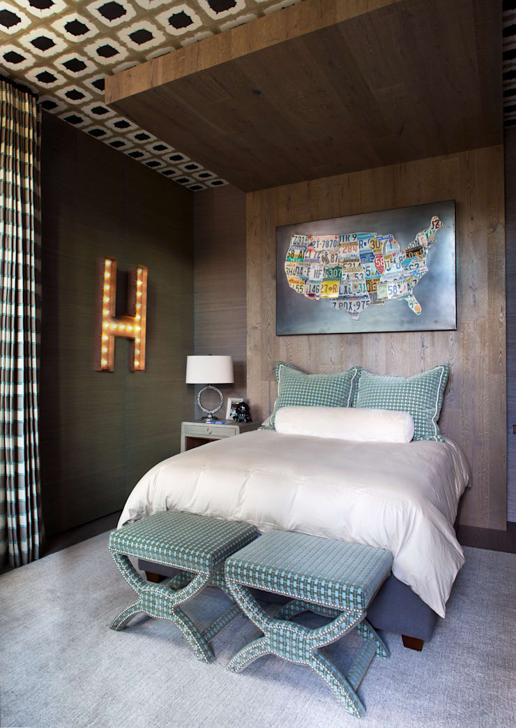 Contemporary Mountain Chalet: modern Bedroom by Andrea Schumacher Interiors