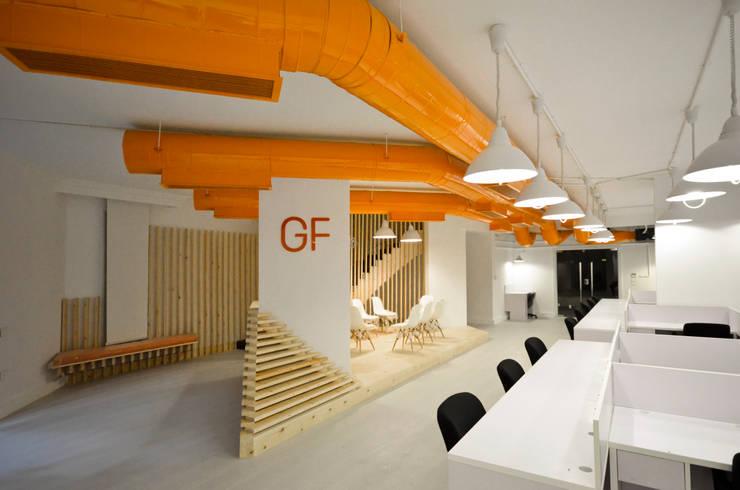 Ground Floor Area Edificios de oficinas de estilo minimalista de CUBEArchitects Minimalista