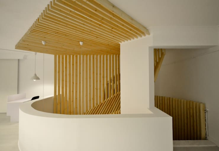 Staircase Design Edificios de oficinas de estilo minimalista de CUBEArchitects Minimalista