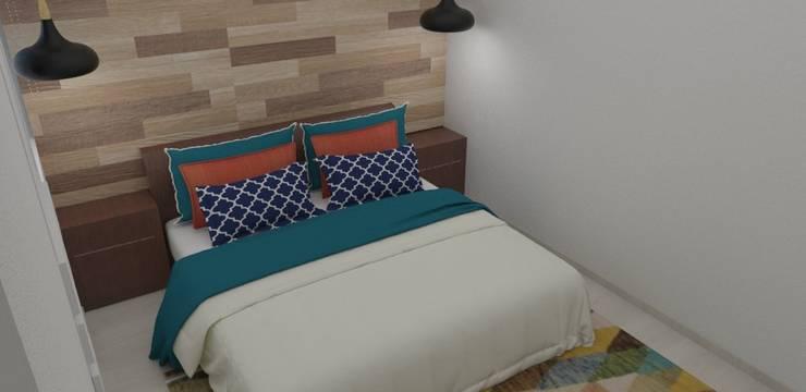 habitación con mucho estilo : Habitaciones de estilo  por Naromi  Design , Moderno Madera Acabado en madera