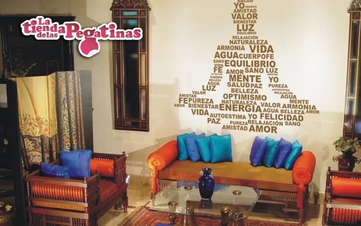 Paredes y pisos de estilo ecléctico por La Tienda de las Pegatinas.SL