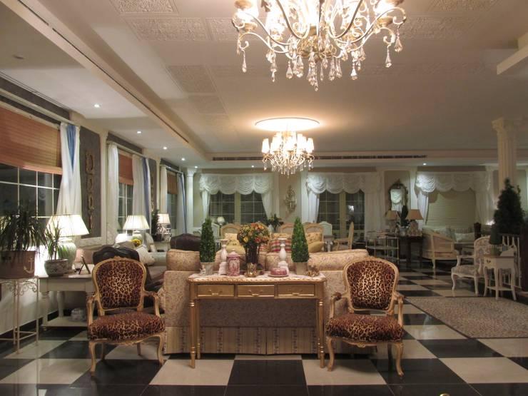 صالون:  غرفة المعيشة تنفيذ FN Design