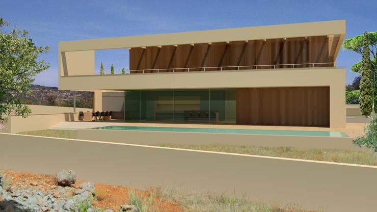 Hill Top Villa 37°10'N 7°59′W:  Villa door MOTUS architects, Modern